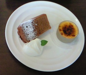 ふじゅうさん1dayレッスンのケーキセット