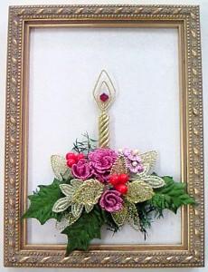 シフォンワイヤー・クリスマスキャンドル/ピンク