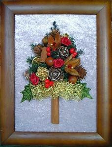 クリスマスツリー・額仕立て