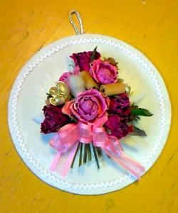 ヨコヤマ薔薇園のドライ壁飾り
