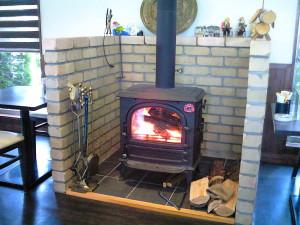 ふじゅうさんの暖炉