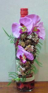 ボトルコサージュピンクの胡蝶蘭