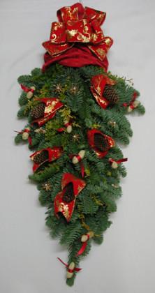 クリスマスのドア飾り(フェステューン)