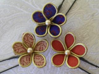 和布の髪飾り