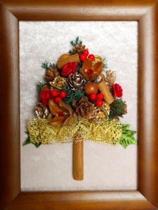 クリスマスツリーの額飾り