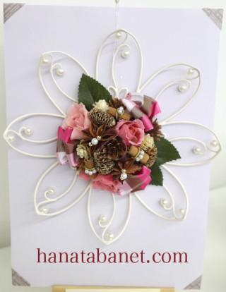 お花の壁飾り