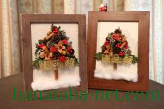 クリスマスツリーの額2