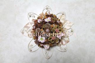 お花の壁飾り(ピンク)