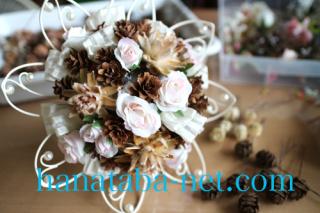 ブーケ木の実と花