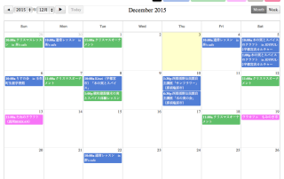 201512月の予定