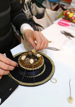 帽子の製作過程