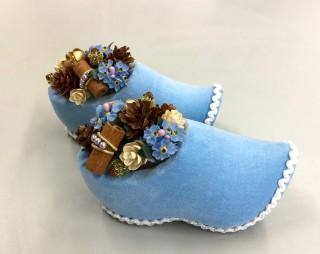 ブルーの木靴