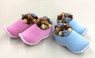 木靴ピンクとブルー