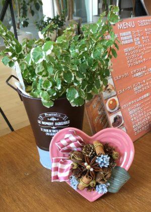 ハートアレンジ in cafe