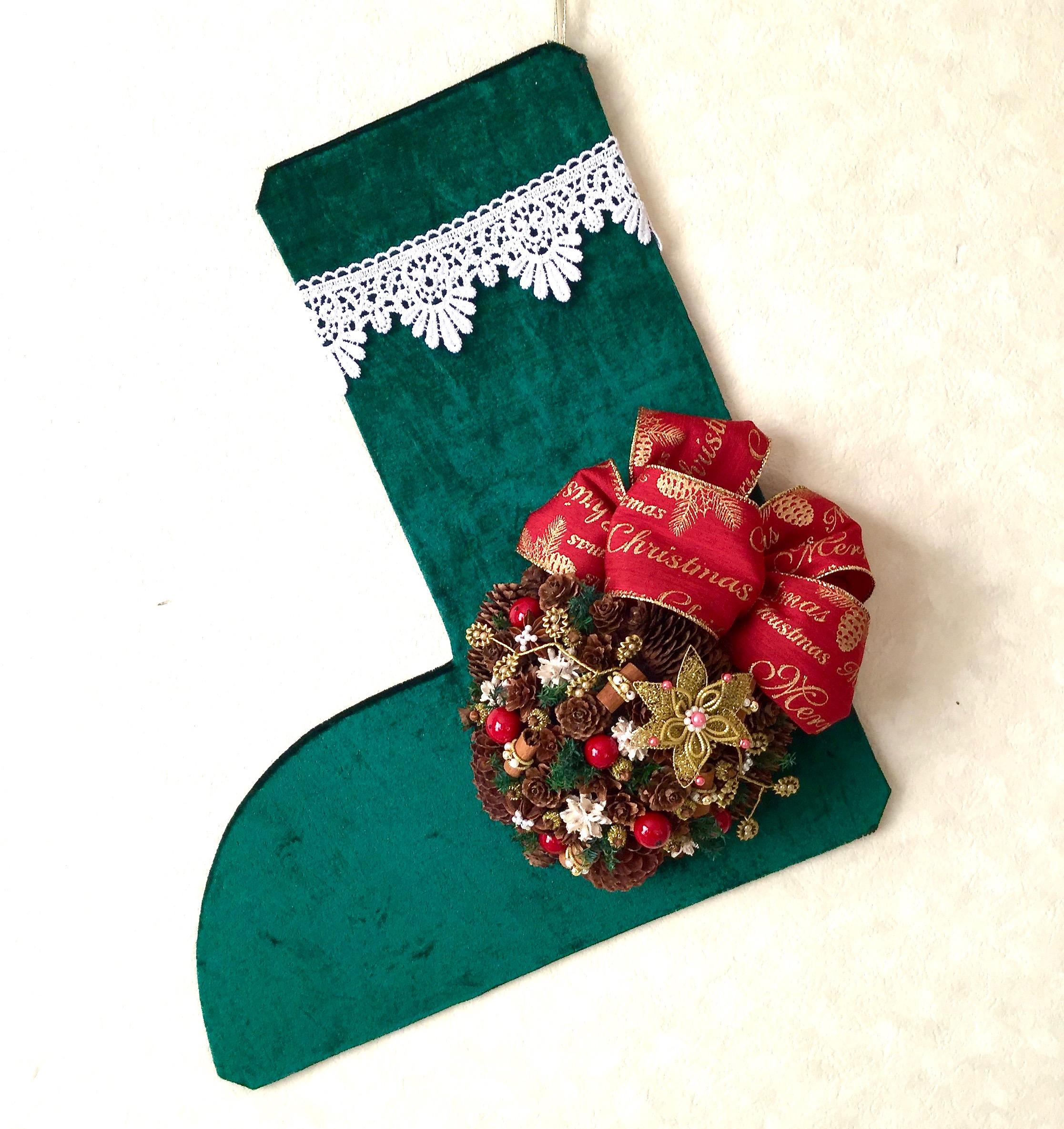 クリスマスブーツ緑