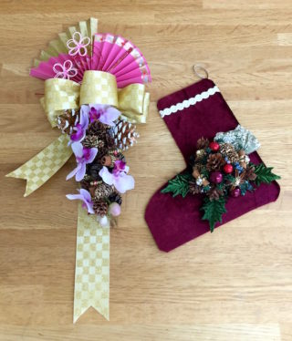 クリスマスブーツとお正月飾り