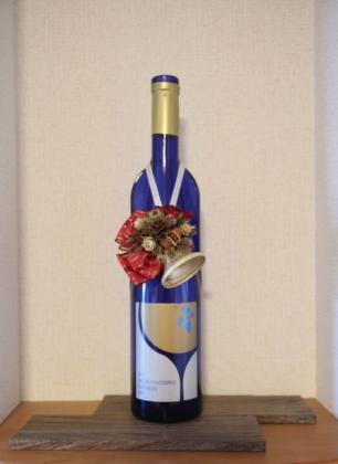 Xmasベルのワイン飾り